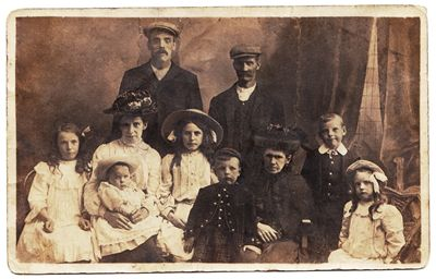 Picture Of Vintage Family Portrait